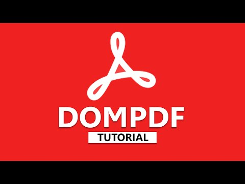DOMPDF Tutorial - Create PDF From HTML File (2/3)