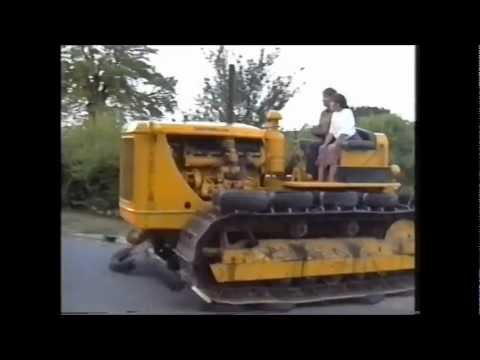 D7 Caterpillar ploughing, mole ploughing and going for a road run without cutting the road up