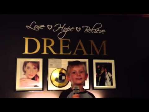 Celine Dion `s Loved me back to life sung by 5-year old.