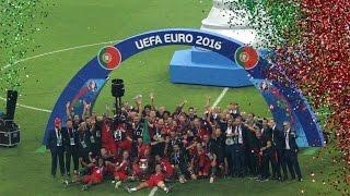 Portugal - the winner of the EURO 2016. Unbelievable emotion of the Seleção Portuguesa de Futebol