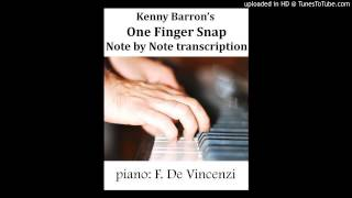 Kenny Barron- One finger snap