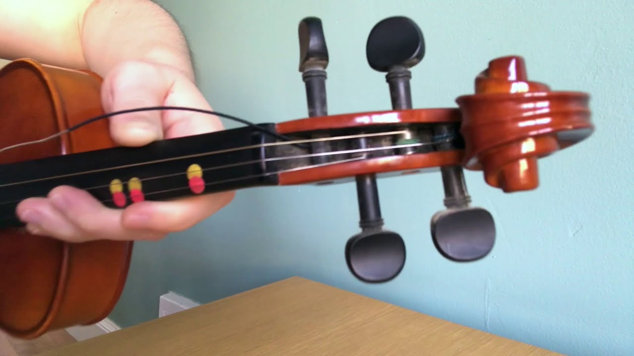 How to change a string on a violin (viola or cello)