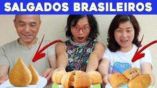 Chineses Provando SALGADOS DO BRASIL | Pula Muralha