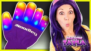 Learn Colors with Lights | Colors for Children to Learn | Pajamas Song with Light Up Gloves for Kids