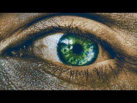 Fortnite Pixel Art - Human Eye