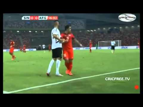 Singapore vs Afghanistan world cup qualifier 1st h
