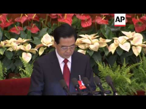 Congress meeting opens with speech by outgoing president Hu Jintao