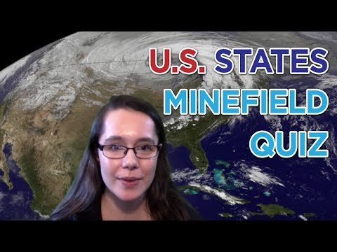 Playing The Find The US States Minefield Quiz | Sporcle