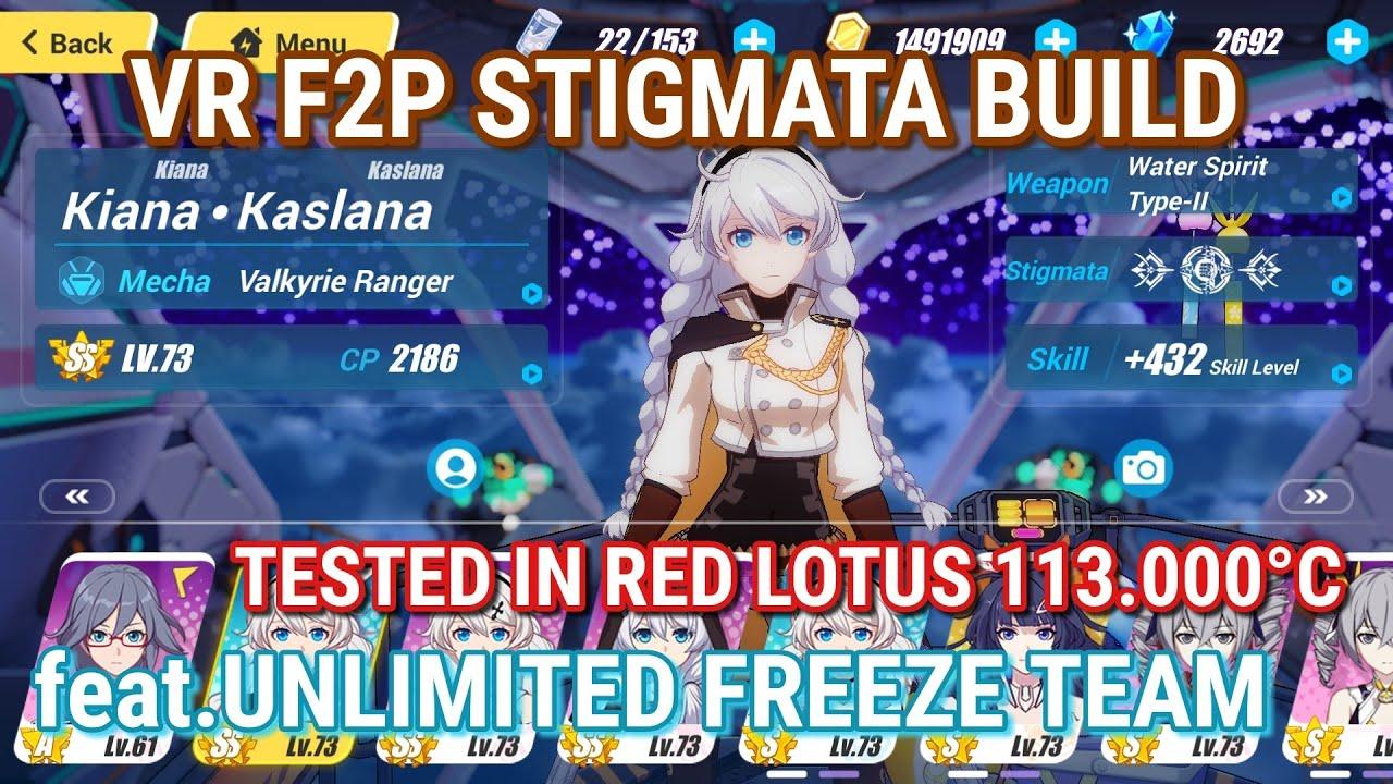 Valkyrie Ranger F2P Stigmata Build feat Unlimited Freeze Team - Honkai  Impact 3rd