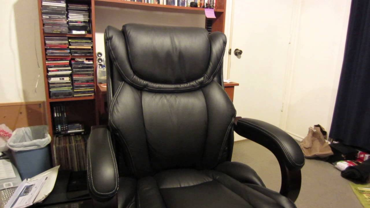 Lazboy Office Chair Antique Desk Chairs Uk Black Executive Review Youtube