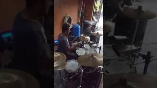 Aún que sea a escondidas reyes locos drum cover