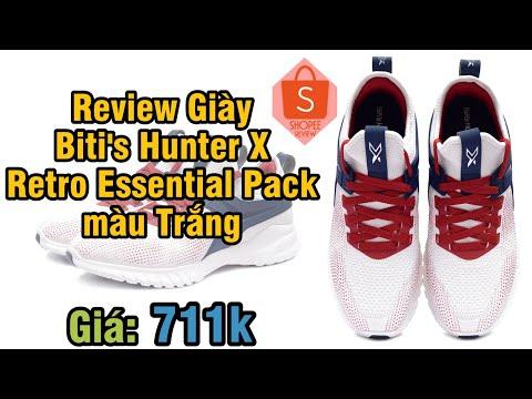 Review Giày Biti's Hunter X 2019 Retro Essential Pack – Trắng