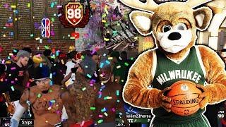 NBA 2K19 98 OVERALL MASCOTS REACTION w/ DUKE DENNIS & UCMANNY 🦁