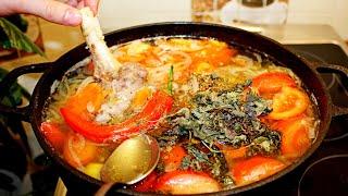 Шурпа из баранины и говядины. Традиционный узбекский рецепт. Готовит Никита Сергеевич