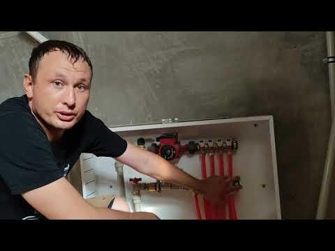 Оптимальный коллектор для водяного теплого пола своими руками