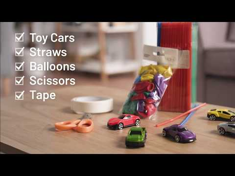 Keep The Kids Busy With Argos Hacks - Build Your Own Balloon Drag Race