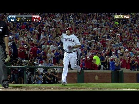2011 ALCS Gm6: Cruz sets postseason home run mark