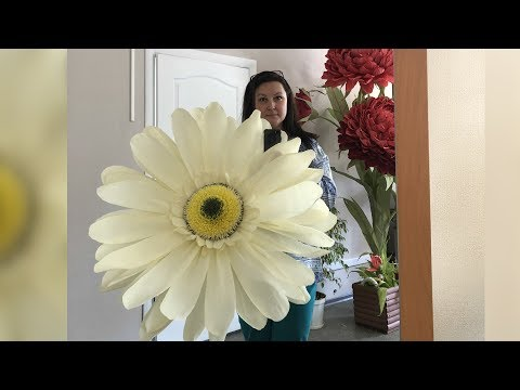 Гигантская ромашка. Как я это делаю. Giant daisy. How I make it.