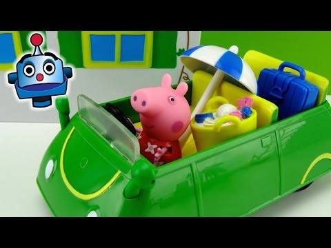 Peppa Pig Coche de Vacaciones Holiday Sunshine Car - Juguetes de Peppa Pig