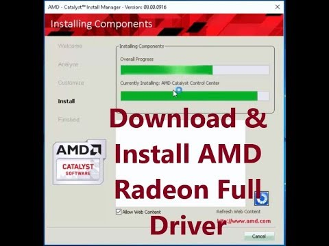 How to Download & Install AMD Radeon Full Driver for Laptop & PC Official