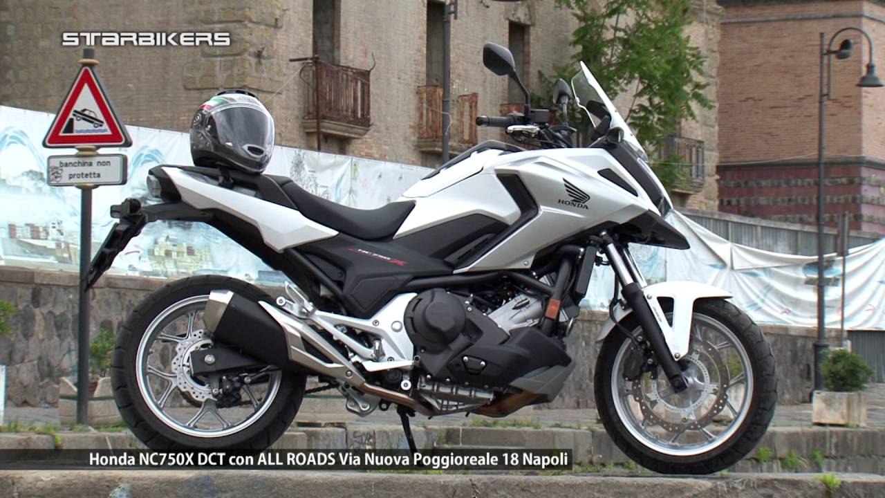 honda nc750x dct in prova con all roads napoli youtube. Black Bedroom Furniture Sets. Home Design Ideas