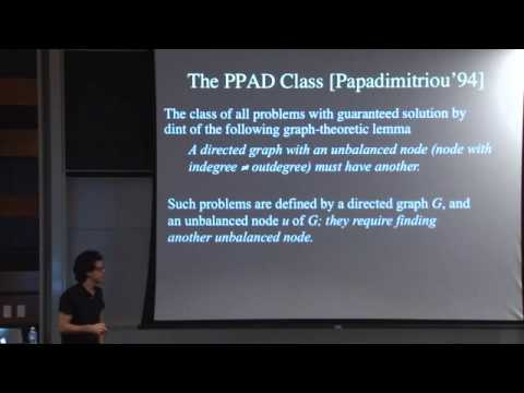 "Constantinos Daskalakis: ""Computational Complexity in Games and Auctions"" Part II"