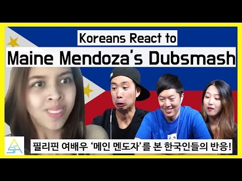 Koreans React to Filipino Actress : Maine Mendoza's Dubsmash [ASHanguk]