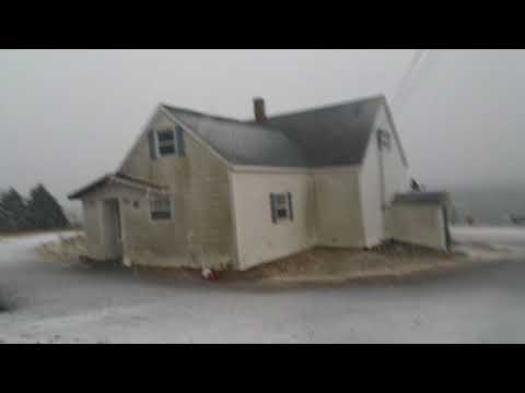 Jan 4 2018 Arichat N.S the start of the cyclone storm part 2