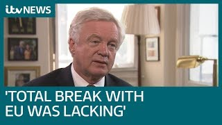 David Davis explains why he resigned as Brexit Secretary | ITV News thumbnail