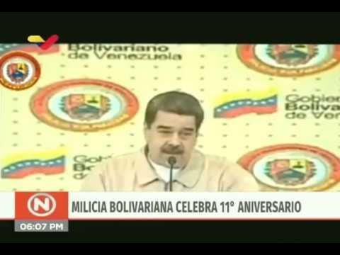 Presidente Nicolás Maduro en Aniversario de la Milicia, 13 de abril de 2020