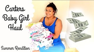BABY HAUL! Carters End of Summer Sale - Girl Clothes