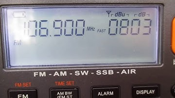 106.9 YLE Radio Suomi (Joensuu)(Joensuu/Vestinkallio (pk)~173km