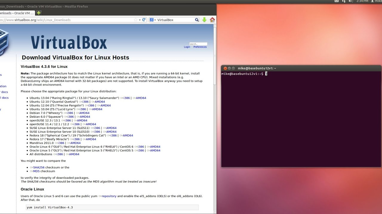 Install/Upgrade Oracle VirtualBox 4 3+ in Ubuntu 12 04