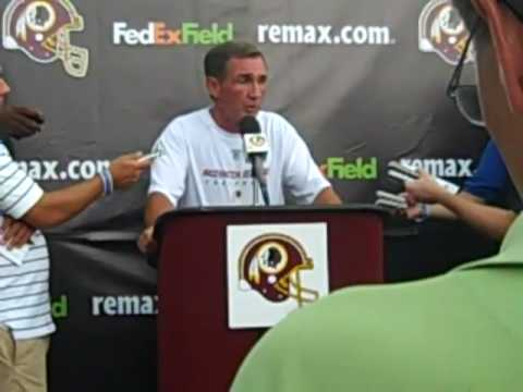 Redskins coach Mike Shanahan talks about Albert Haynesworth