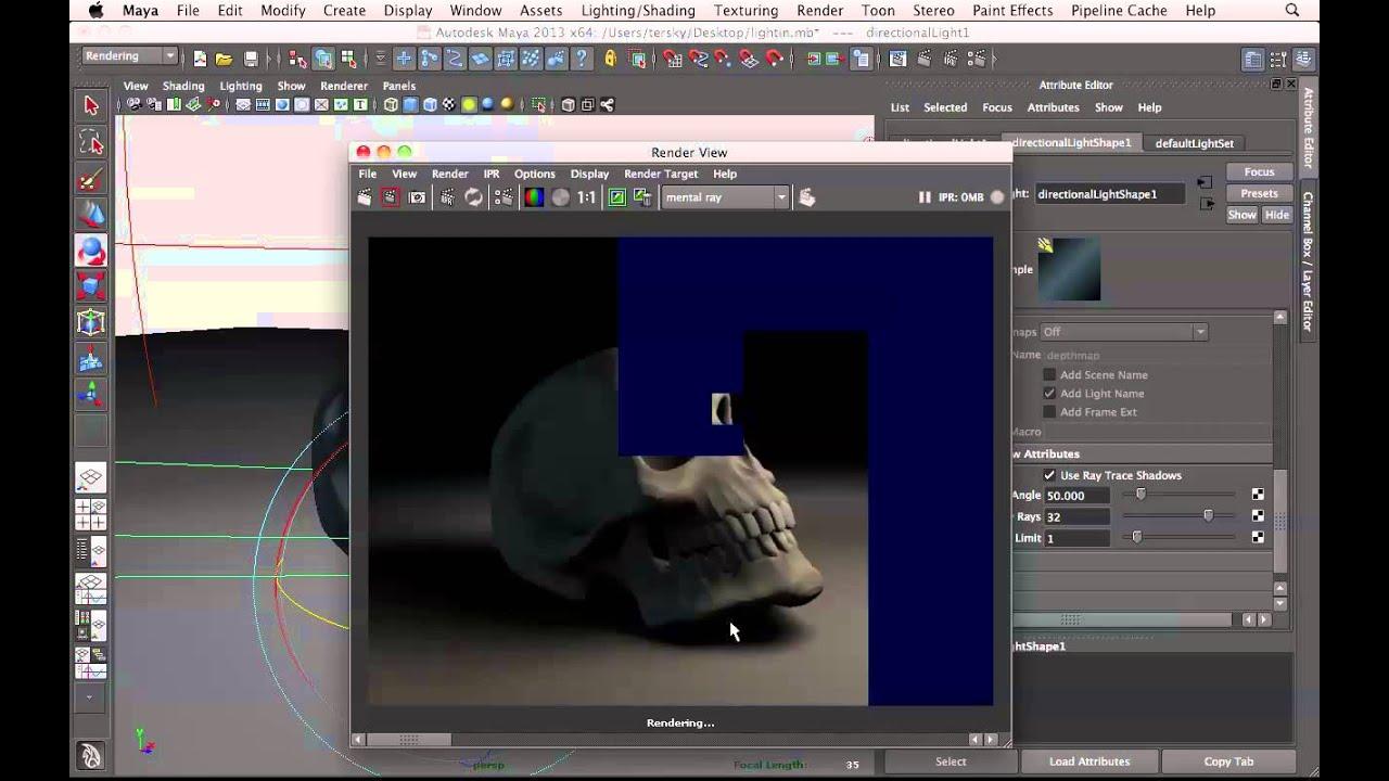 Basic lighting in maya tutorial youtube baditri Gallery