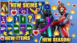*NEW* All Leaked Fortnite Season 9 Skins & Emotes..! *SEASON 9* (Cryptic, Ether, Gemini)