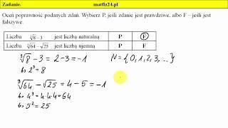 Zadanie 3. Pierwiastki i egzamin gimnazjalny 2018 z matematyki | MatFiz24.pl