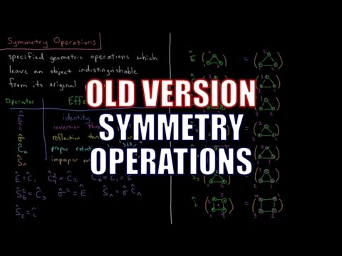Quantum Chemistry 12.2 - Symmetry Operations (Old Version)