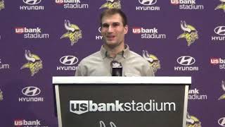 Kirk Cousins on discussion with Adam Thielen, disappointing season