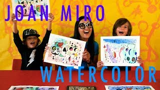HOW TO PAINT JOAN MIRO WATERCOLOR
