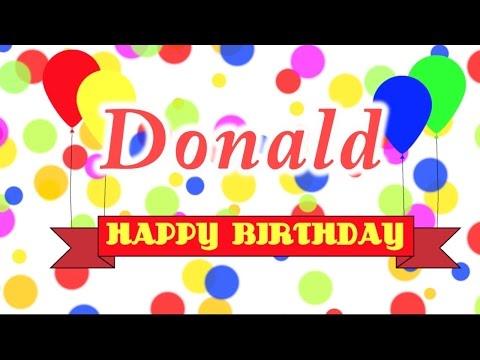 Happy Birthday Donald Song