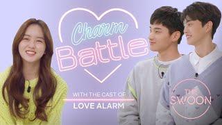 Song Kang and Jung Ga-ram compete to win Kim So-hyuns heart  Love Alarm  Charm BattleENG SUB