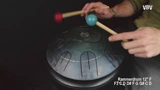 "Tongue Drum 12"" F3 C D Eb F G Ab C D vidéo"