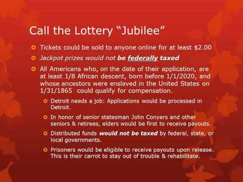 Reparations Labor Union's Jubilee Lottery
