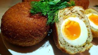 Яйцо по-шотландски. Цыганка готовит. Котлета с яйцом. Gipsy cuisine.
