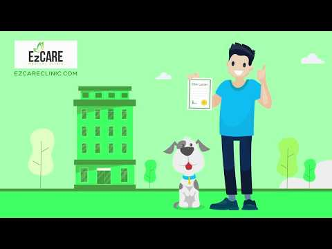 Emotional Support Animal from EzCare Medical Clinic