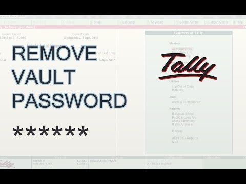 Tally ERP 9 | Remove Tally Vault Password in Tally [Easy Steps