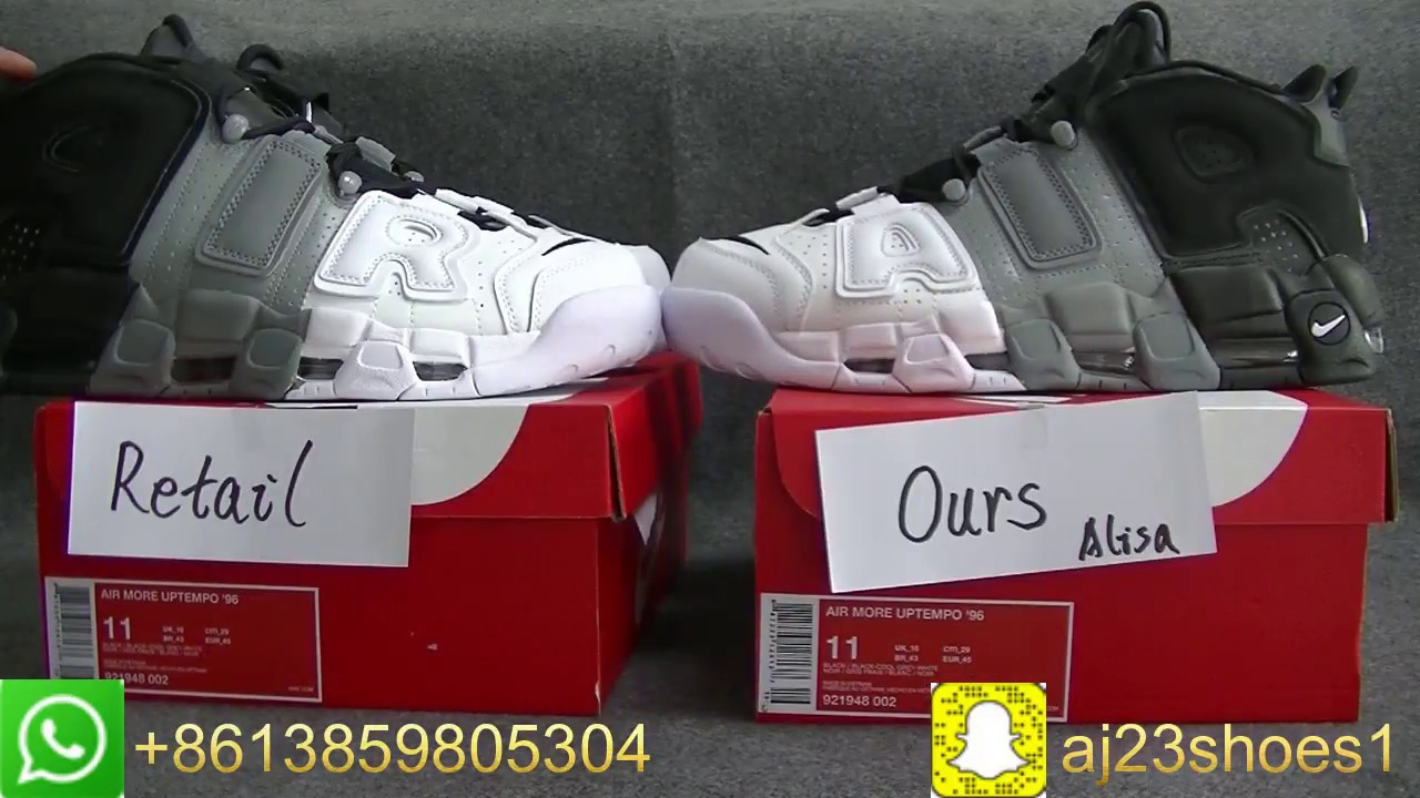 c3cf3253da3 Nike Air More Uptempo Tri-Color Comparison Retail VS Our quality Unboxing  review