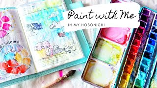 🎨watercolor Month 🎨- Paint with me in my Hobonichi