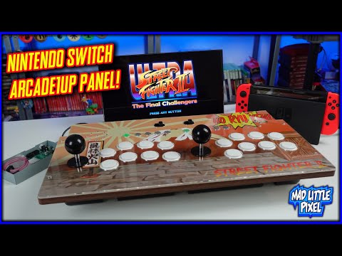 A Nintendo Switch Arcade1UP Machine? 2 Player Control Panel Mod Teardown & Review! from Madlittlepixel